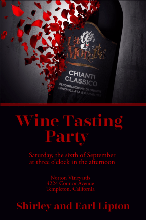 Wine Tasting Party #invitation #party #wine #tasting #winetasting