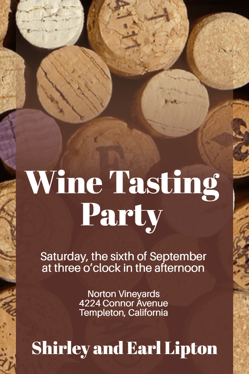 Wine Tasting Party #invitation Design  Template