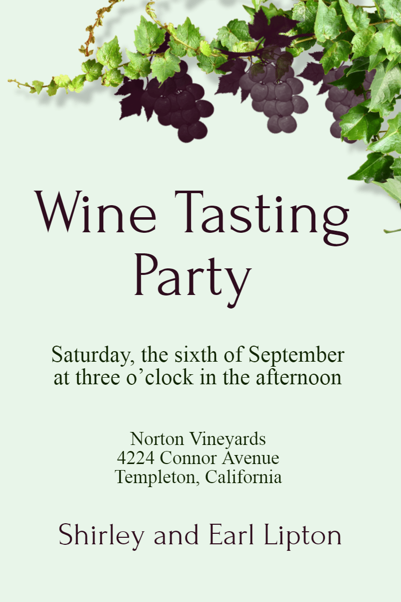 wine tasting party invitation image customize download it for