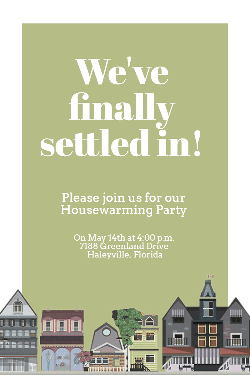 HOUSEWARMING #invitation #house Design  Template