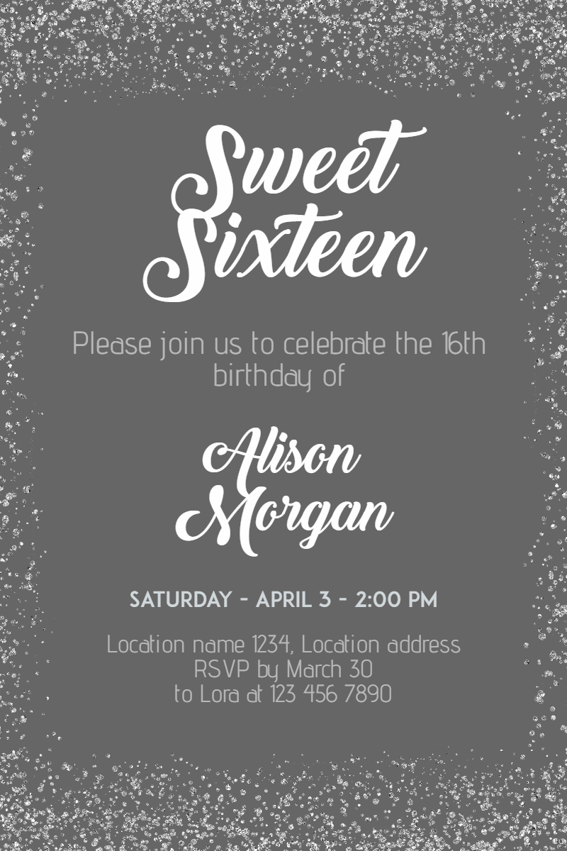 Text, Font, Wedding, Invitation, Sweetsixteen, Party, Birthday, Anniversary, White, Black,  Free Image