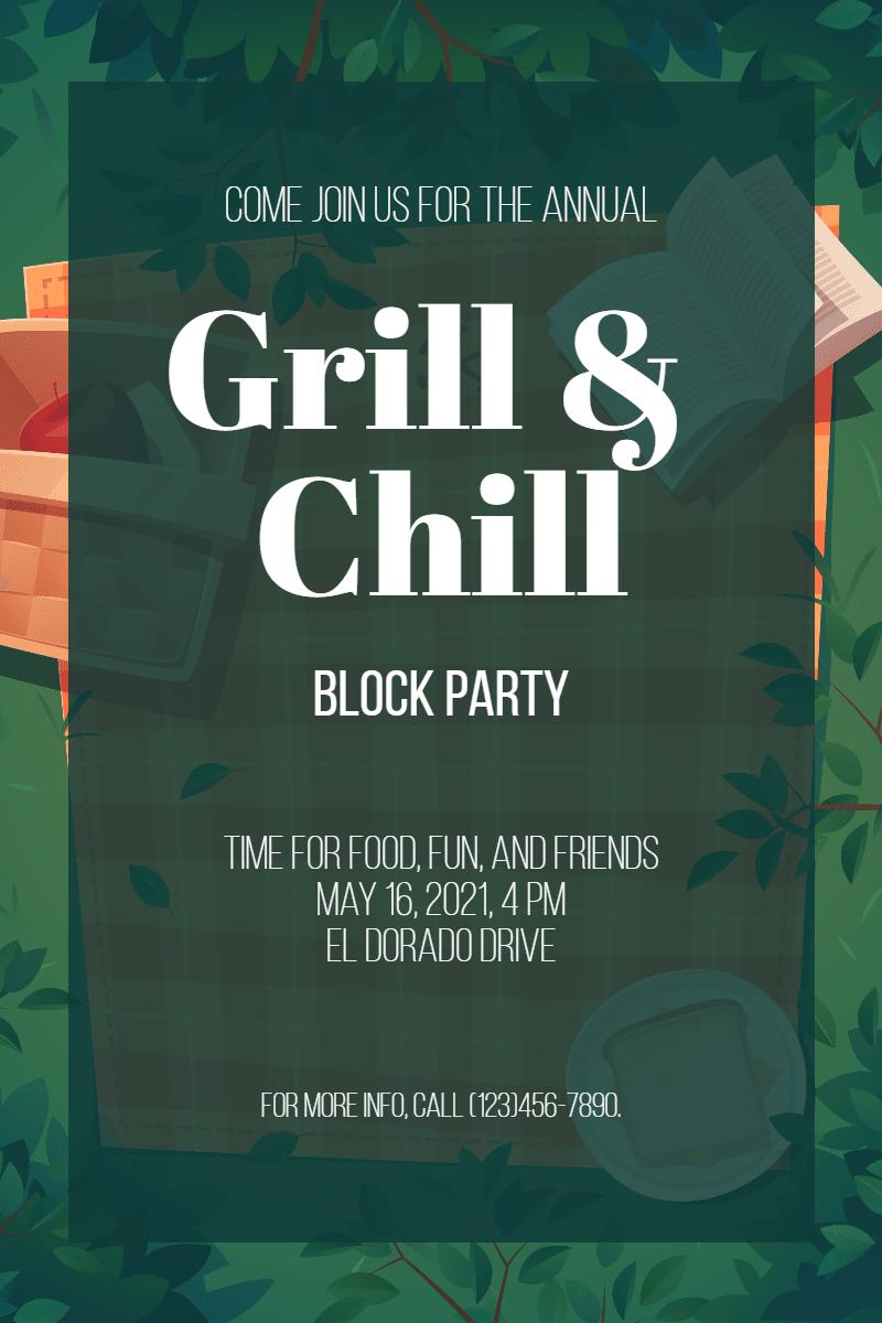 Grill and chill #invitation #grill Design  Template