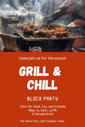 Grill and chill #invitation #grill #barbecue #food #bbq  #party