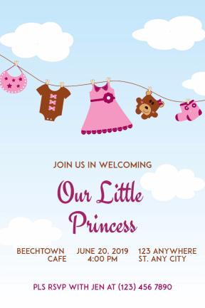 Baby Shower #baby #invitation #babyshower #littlegirl #girl