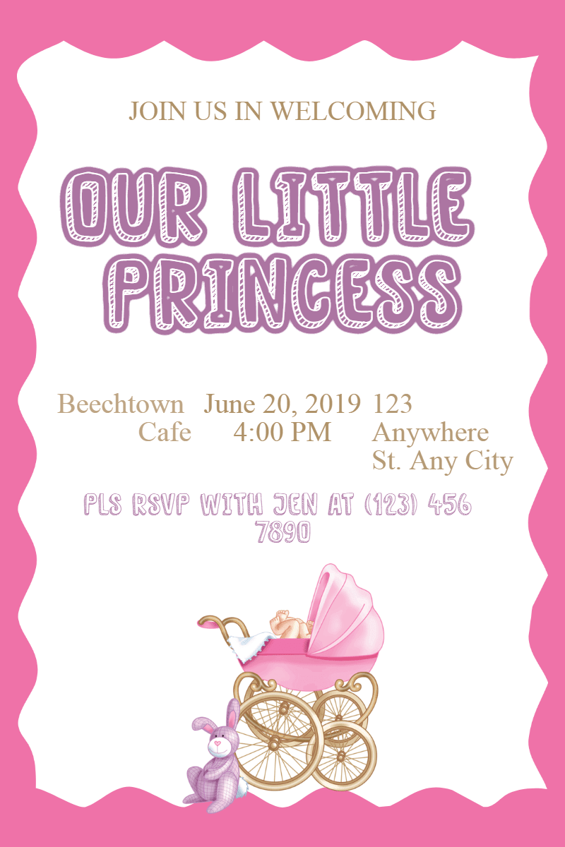 Pink,                Text,                Font,                Product,                Party,                Supply,                Baby,                Invitation,                Babyshower,                Littlegirl,                Girl,                White,                Fuchsia,                 Free Image