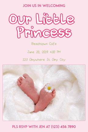 Baby Shower #baby #invitation #babyshower #littlegirl #girl