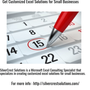 Get Customized Excel Solutions for Small Businesses