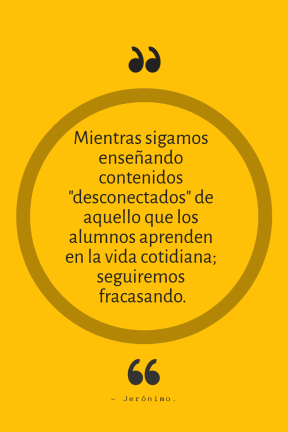 MientrasSigamosEnseñando-Frase-Jeronimo #Educación #Poster
