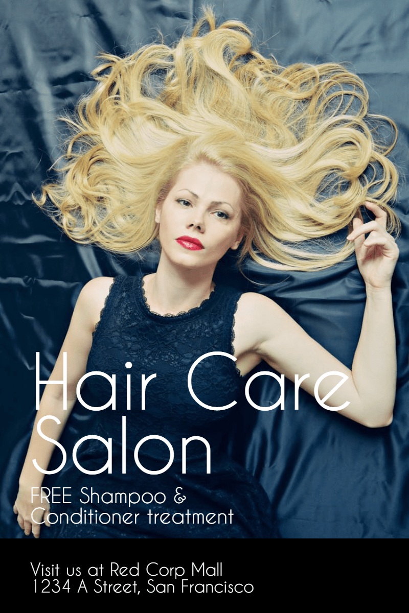 Hair Care Salon #hair #salon #care Design  Template