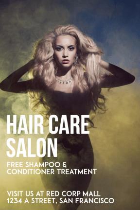 Hair Care Salon #hair #salon #care #business #poster #beauty