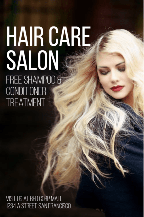 Hair Care Salon #hair #salon #care #business #poster #beauty