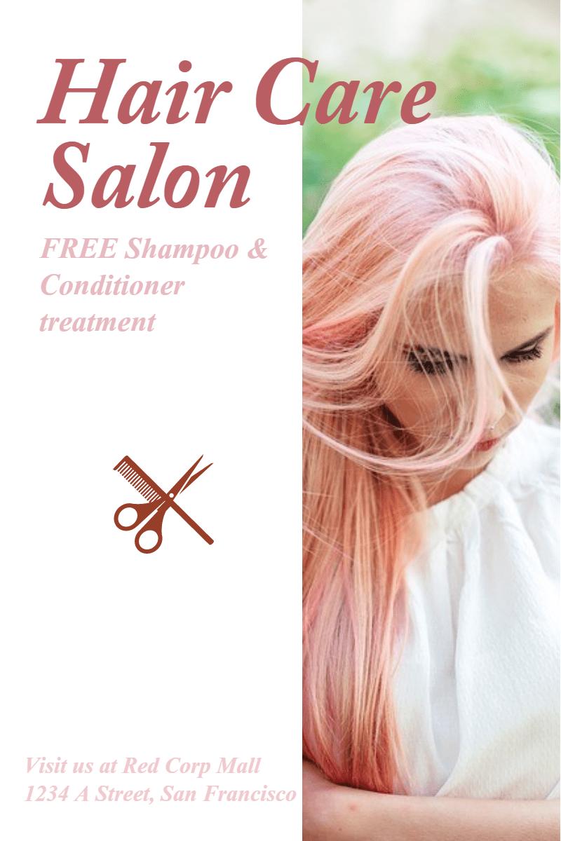 Hair Care Salon #hair #salon #care Design  Template