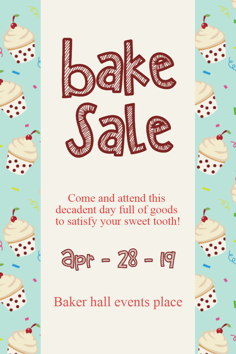 bake sale #business #templates Design  Template