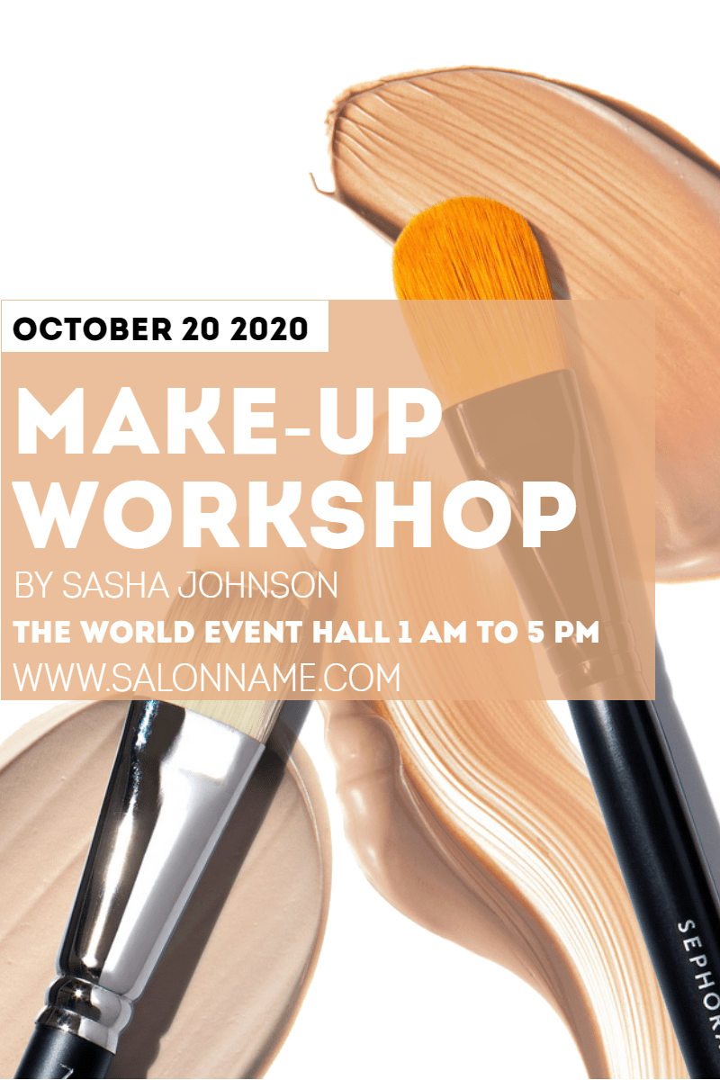 Make-up workshop #business #workshop Design  Template