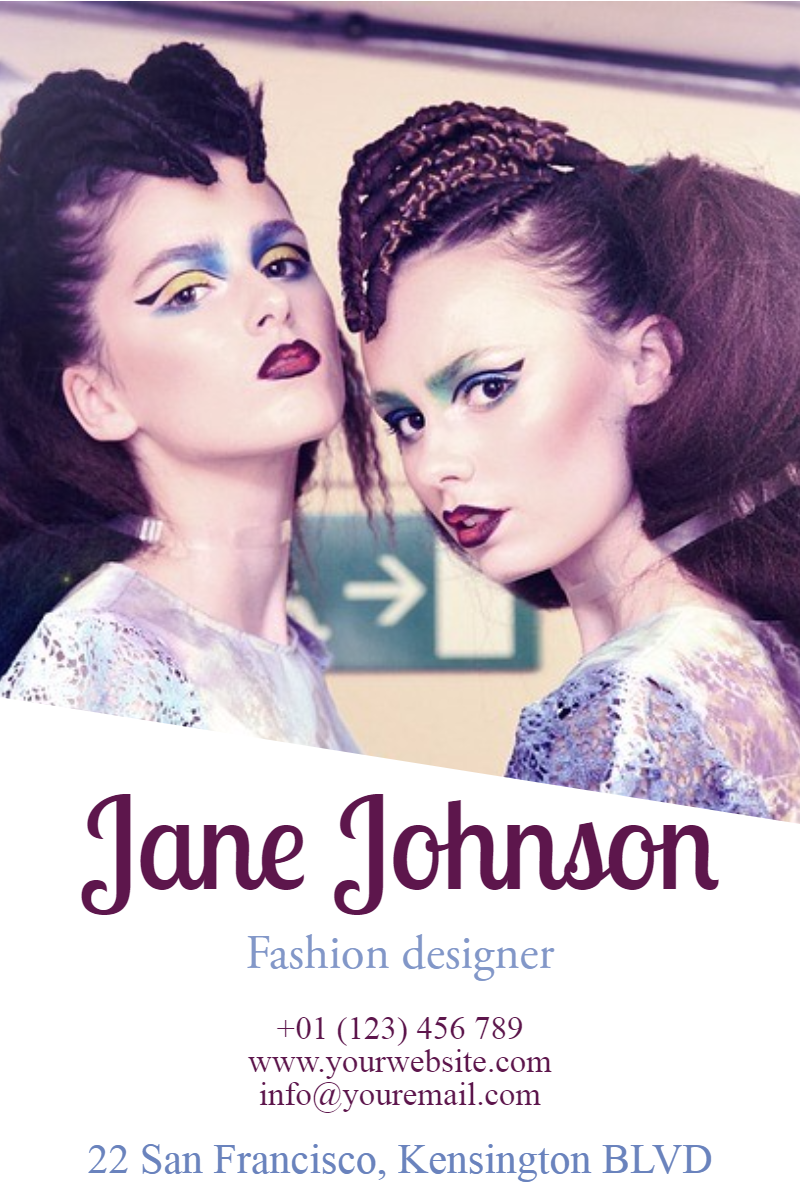 Fashion Designer #business #poster Design  Template