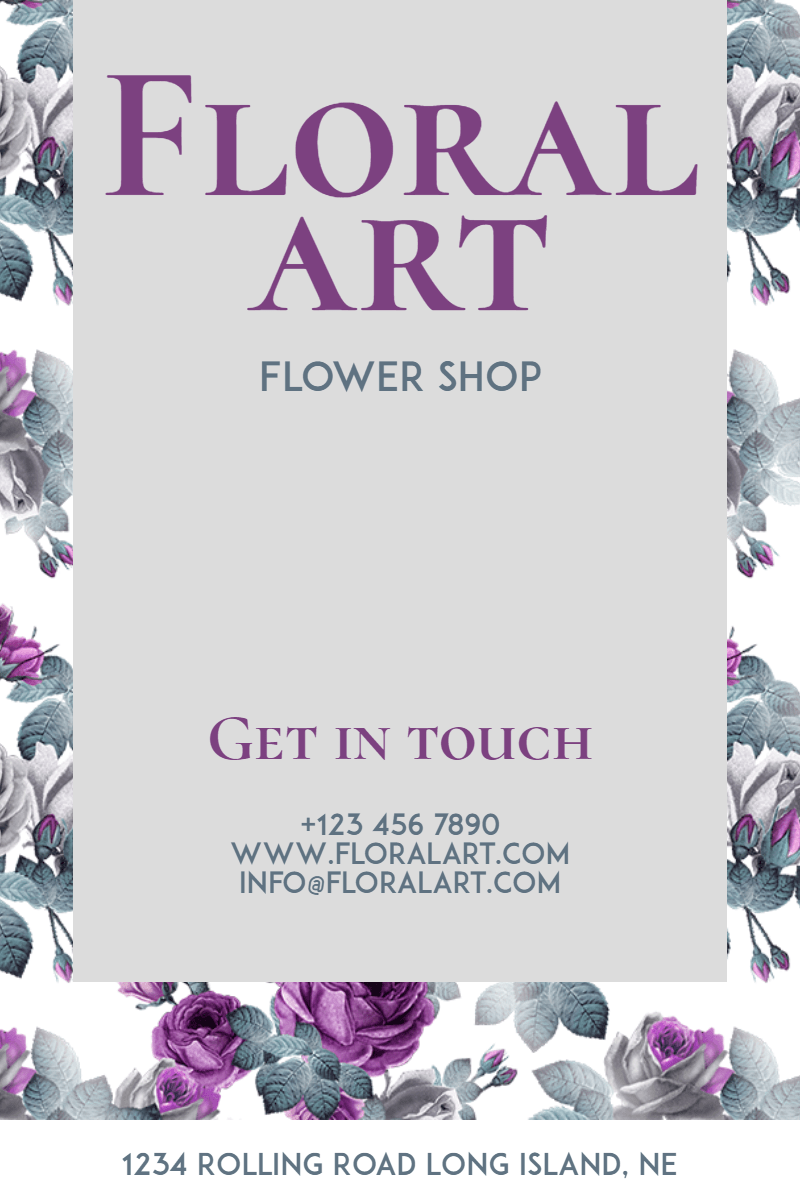 Flower shop #business #flower Design  Template