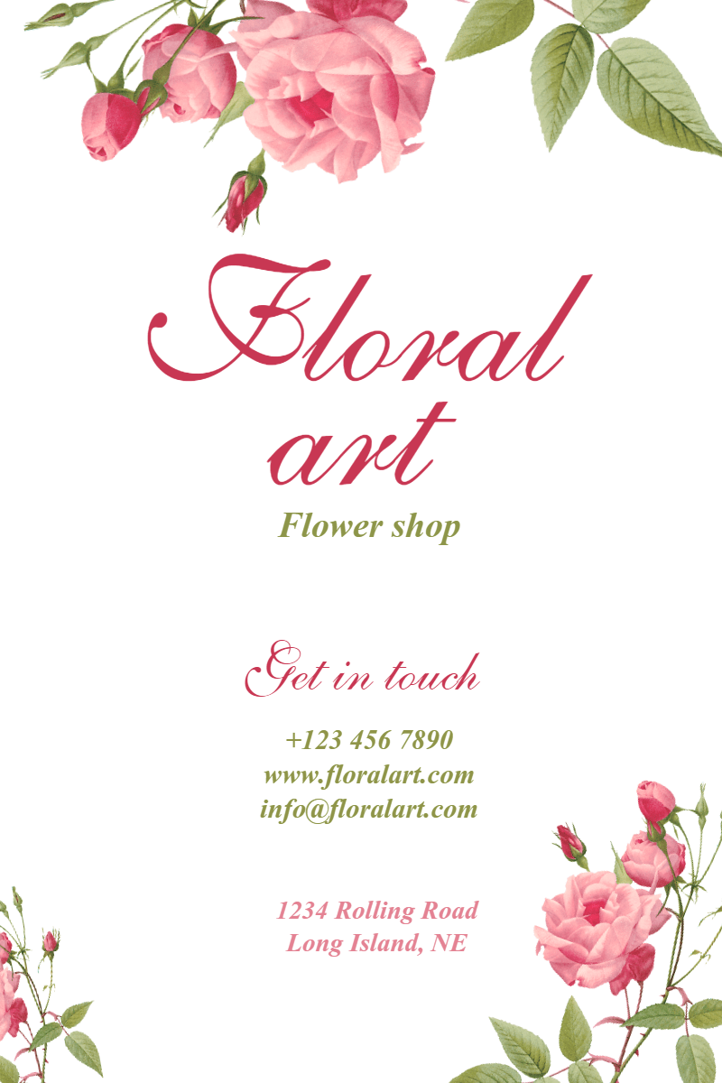 Flower shop #business #flower Design  Template
