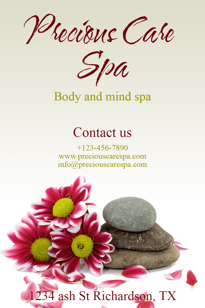 Precious care spa #spa #care #relax Design  Template