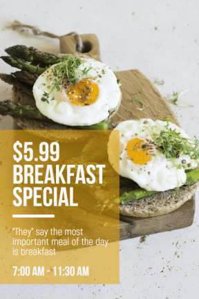 Breakfast special #template #food #poster #breakfast #special #food #business