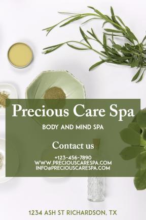Precious care spa #spa #care #relax #business #poster