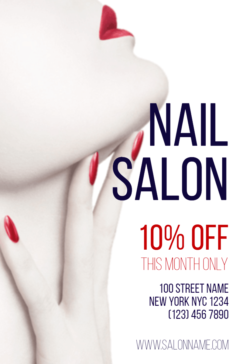 Nail Salon #nail #nailart #salon Design  Template