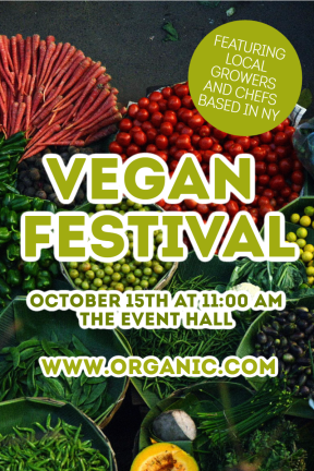 Vegan festival #business #poster  #festival #vegan #food
