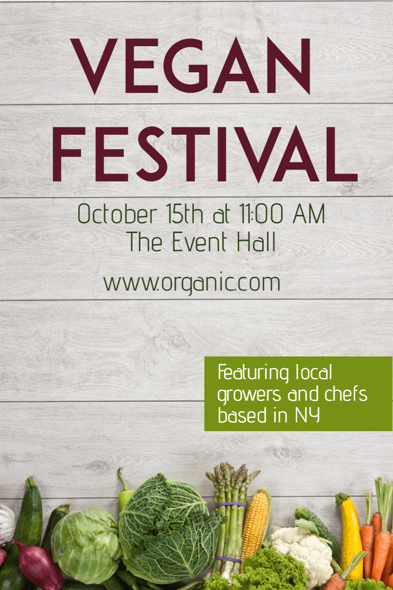 Vegan festival #business #poster  Design  Template