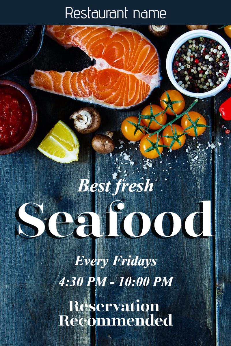 Seafood restaurant  #restaurant Design  Template
