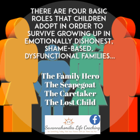 The 4 roles children adopt in dysfunctional families...