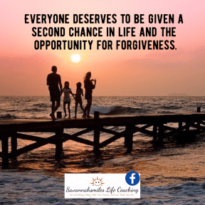 Everyone deserves to be given a second chance in life and the opportunity for forgiveness.