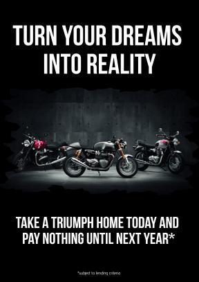 Triumph Dreams Poster - RePostioned (A3)