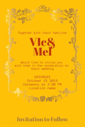 Wedding invitation #invitation #wedding #love #ceremony #marriage