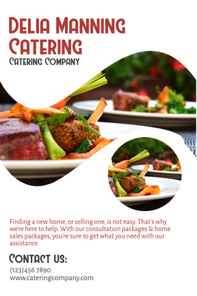 Catering company #catering #food #business #poster #consulting