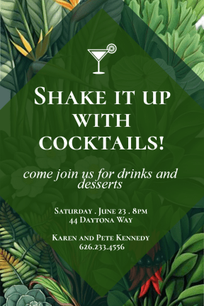 Cocktail party #invitation #party #cocktail #fun