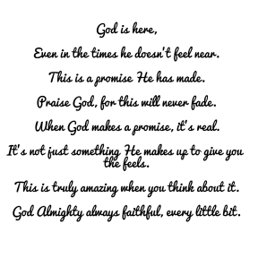 God is Here~Poem