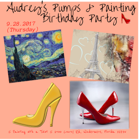 Audrey's Pumps & Painting Birthday Celebration