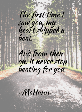 My heartbeat for you