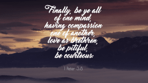 1 Peter 3:8 Compassion
