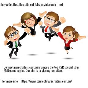 Get Best Recruitment Jobs in Melbourne