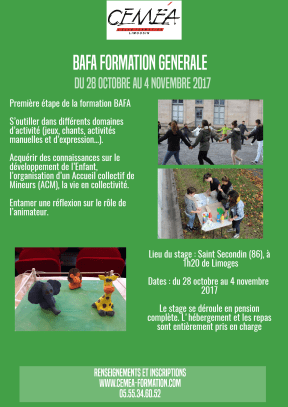 Affiche BAFA 1 Saint Secondin