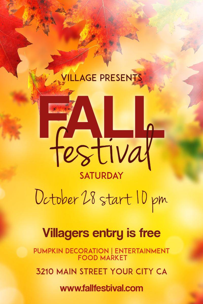 Yellow,                Text,                Advertising,                Leaf,                Font,                Poster,                Autumn,                Graphic,                Design,                Petal,                Tree,                Fall,                Festival,                 Free Image