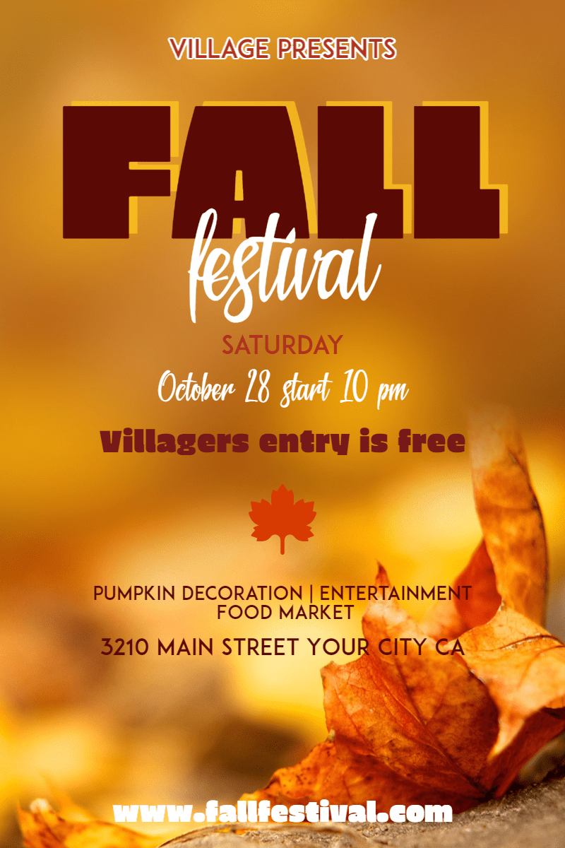 Fall Festival #fall #festival Design  Template
