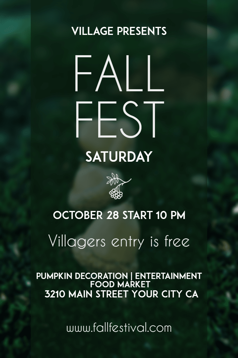 Fall Festival #fall #festival Design  Template