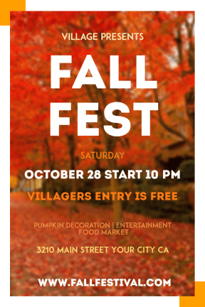 Fall Festival #fall #festival #poster #autumn #invitation