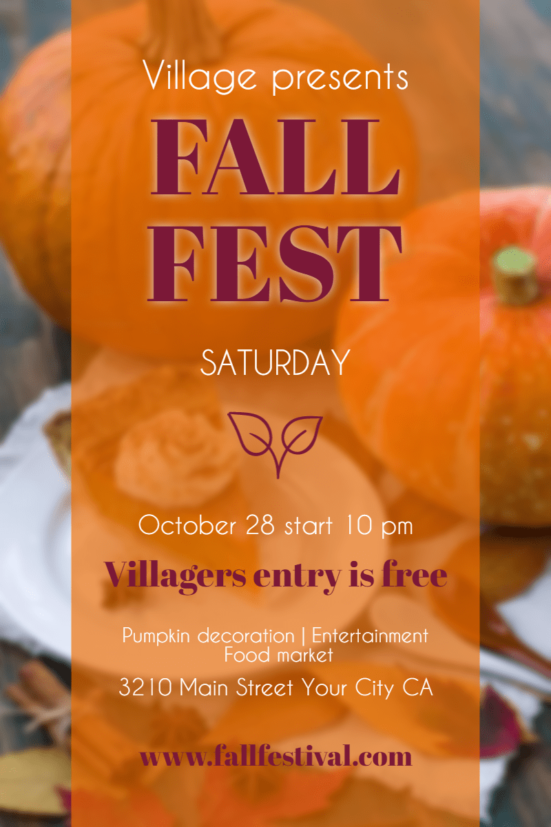 Orange,                Font,                Local,                Food,                Vegetarian,                Junk,                Pumpkin,                Calabaza,                Fall,                Festival,                Poster,                Autumn,                Invitation,                 Free Image