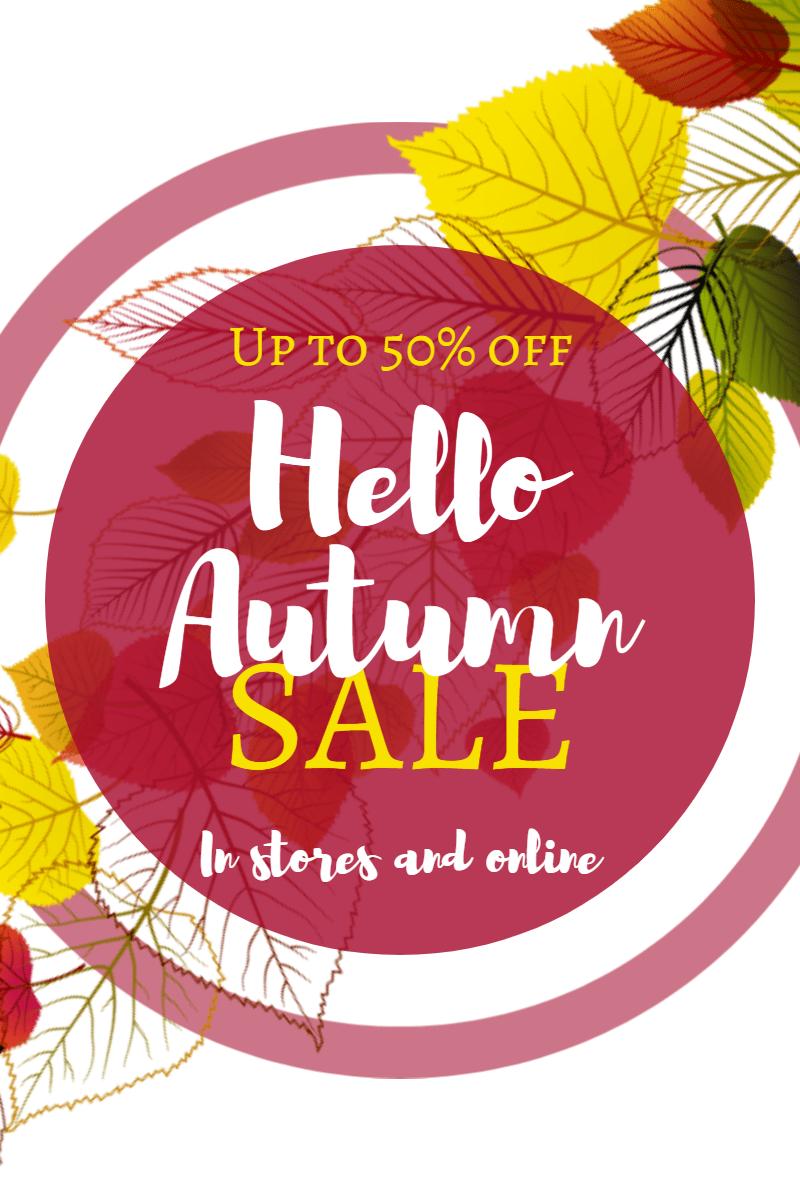 Autumn sale #autumn #sale #shop Design  Template