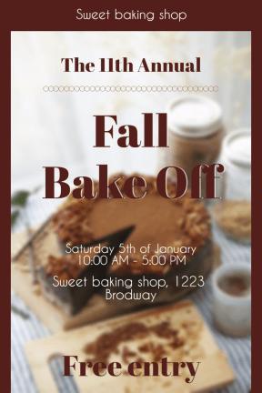 Fall Bake Off #invitation #poster #business #fall #autumn #bake #baking