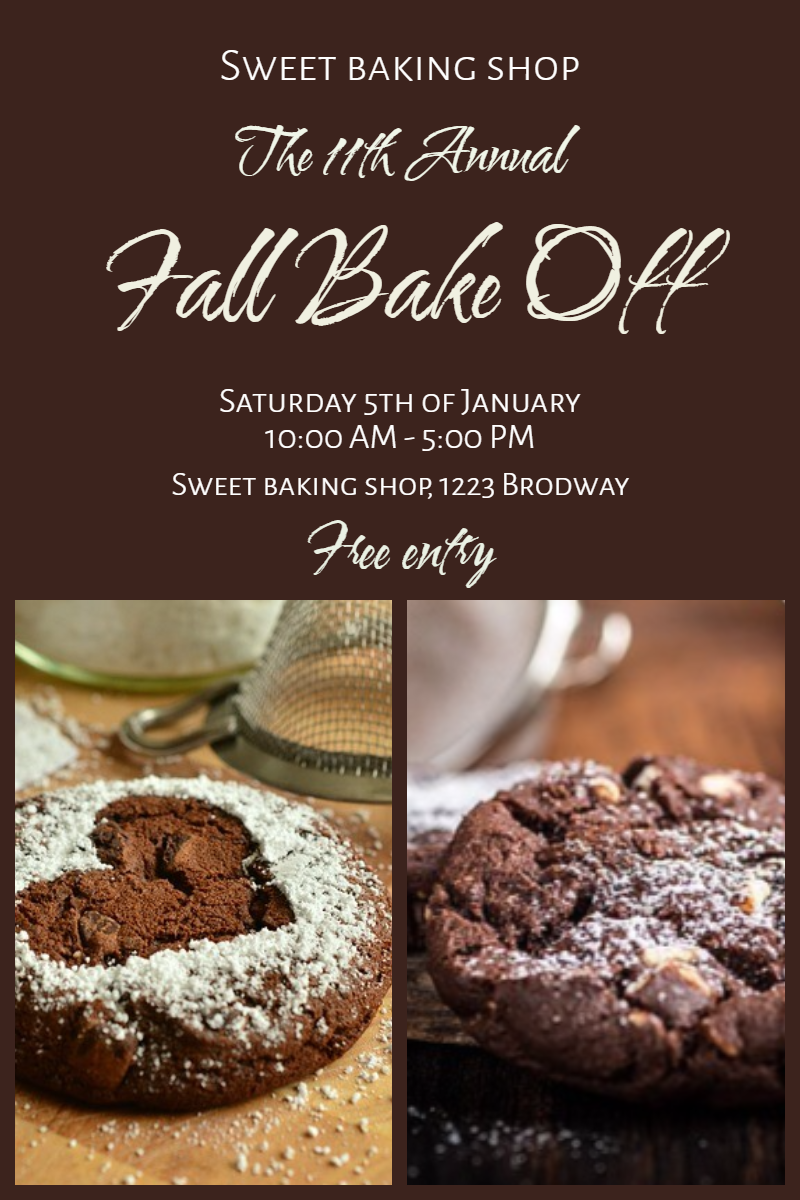Fall Bake Off #invitation #poster Design  Template
