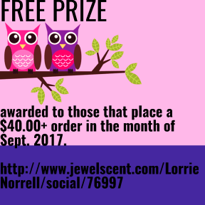 FREE PRIZE awared to the next person to place a $40.00 + order