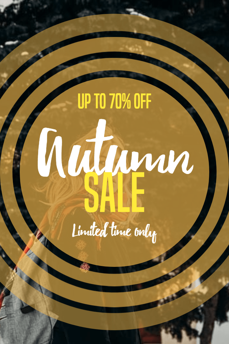 Autumn sale #autumn #sale #shop Design  Template